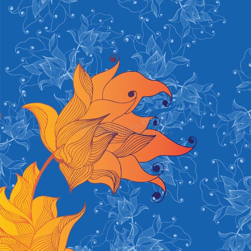 Brand lilie vector illustratie
