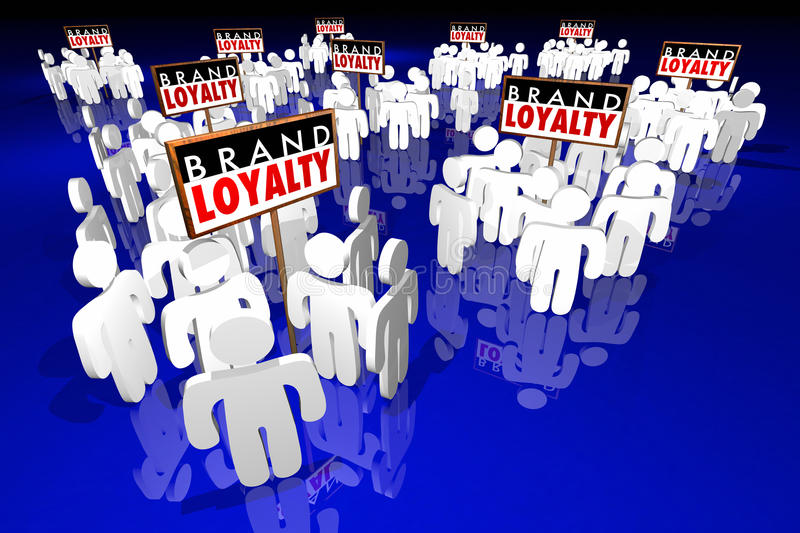 Brand Loyalty Customers Preference Buying Products royalty free illustration