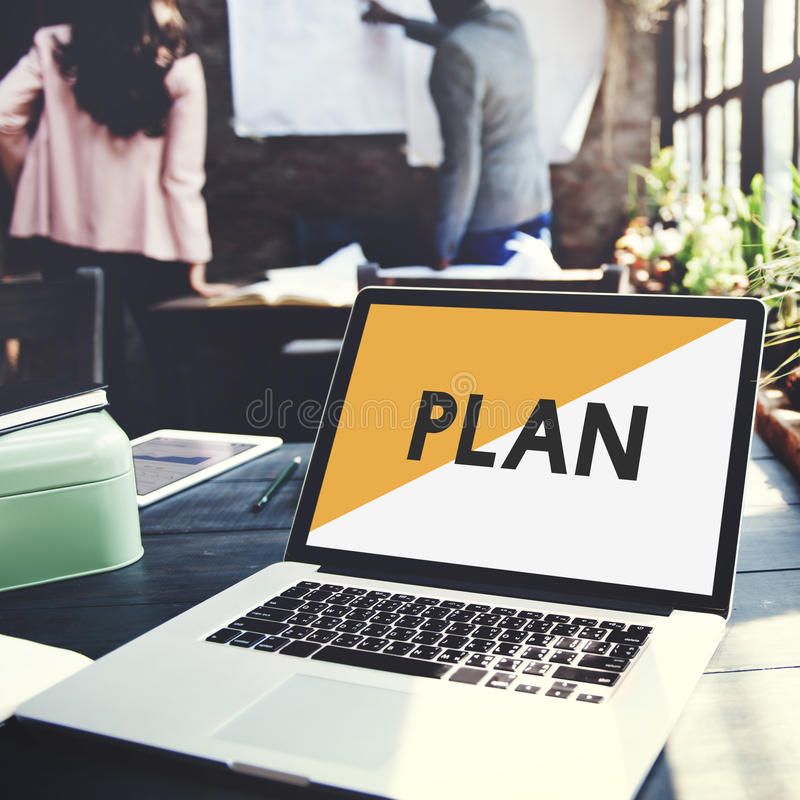Brand Marketing Plan Business Start up Concept stock images