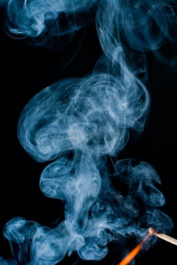 Brand met rook royalty-vrije stock foto