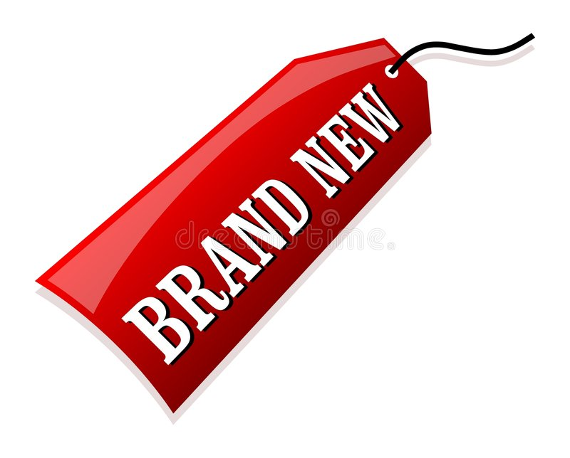 Brand New. Illustration of a brand new label royalty free illustration