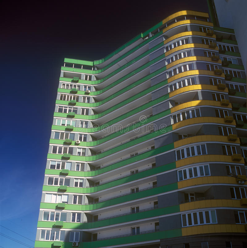 Download Brand new apartments. stock photo. Image of city, yellow - 25396702