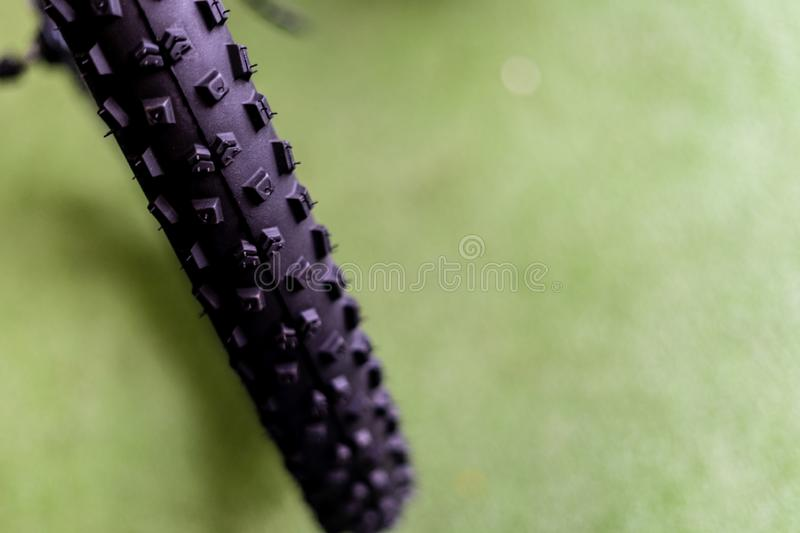 Brand new bicycle tires stock images