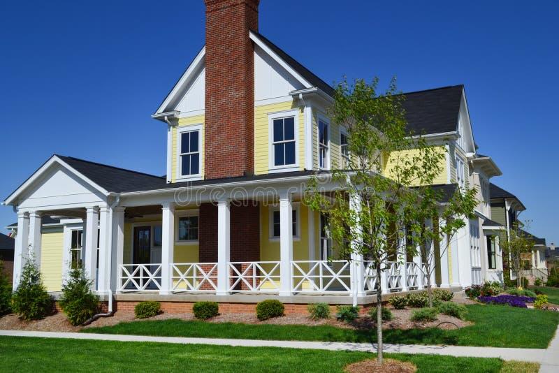 Brand New Capecod Suburban American Dream Home. Beautiful, Brand New Capecod Suburban American Dream Home stock image