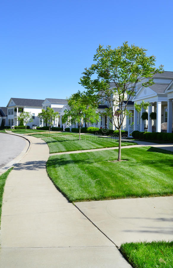 Brand New Capecod Suburban American Dream Home Neighborhood. Beautiful, Brand New Capecod Suburban American Dream Home Neighborhood Development royalty free stock images