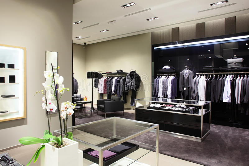 Brand New Clothes Store Stock Photography