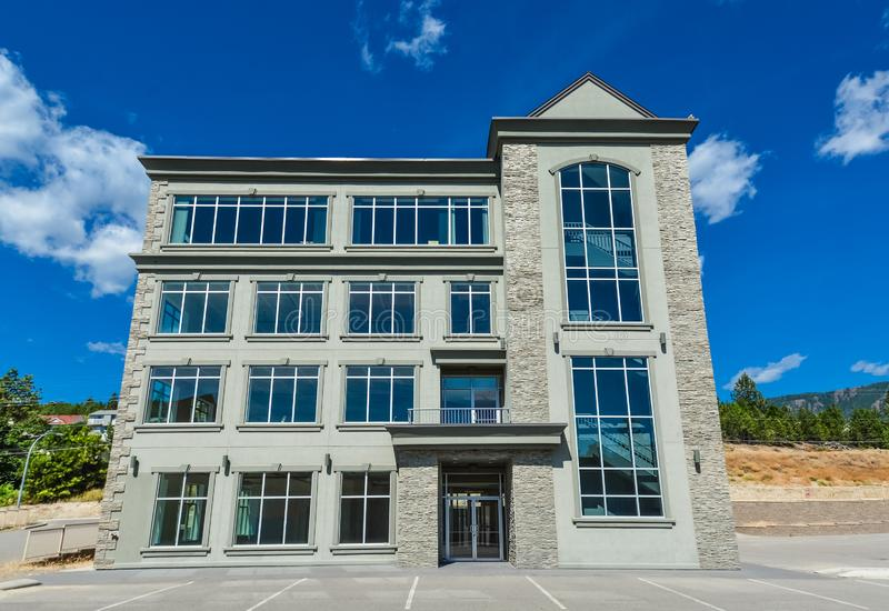 Brand new commercial building with retail and office space for sale or lease. Brand new commercial building with retail and office space available for sale or stock images