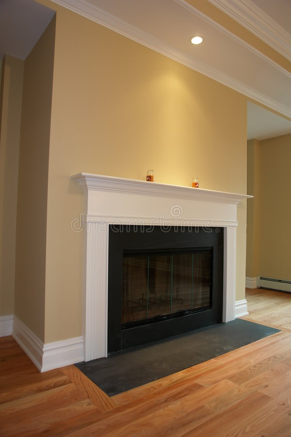 Brand new Fireplace royalty free stock photos