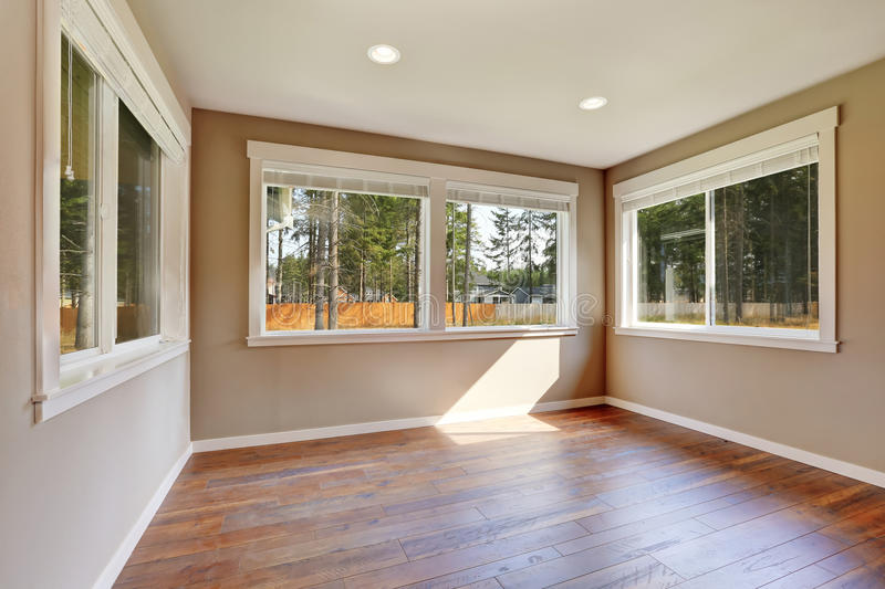 Brand new house construction interior. Empty room. royalty free stock images