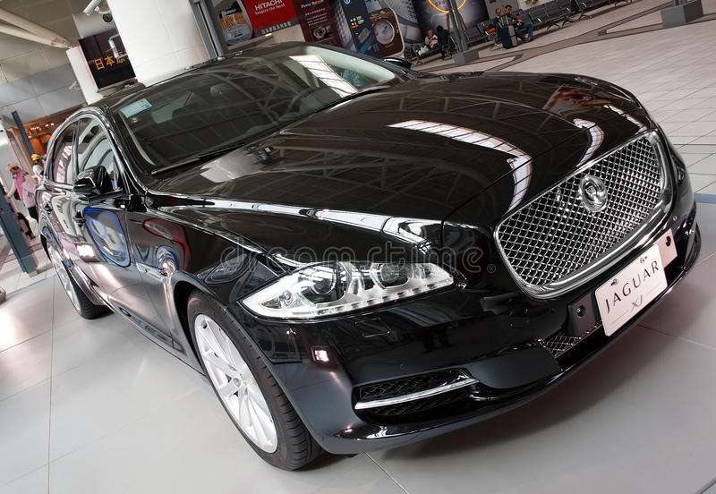 Brand New Jaguar Sedan XJ stock photos