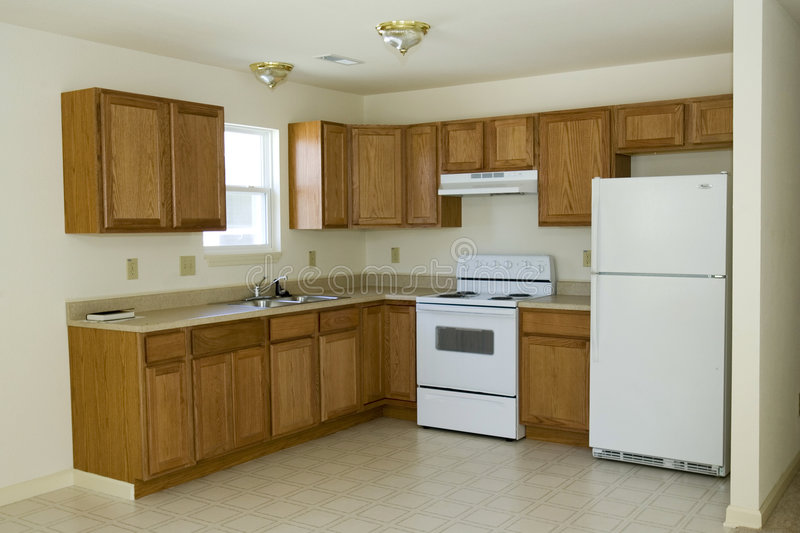 Brand New Kitchen. Interior view of a brand new kitchen royalty free stock photos