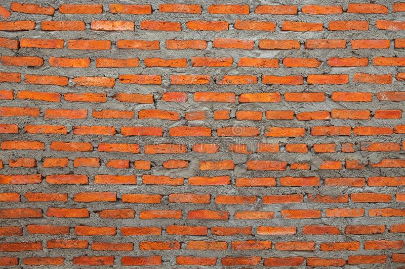 Brand New Red Clay Brick Wall Texture Background royalty free stock photography
