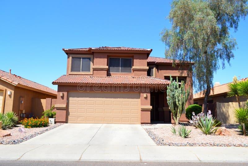 Brand New Spanish/Southwestern Style Arizona Dream Home royalty free stock photos