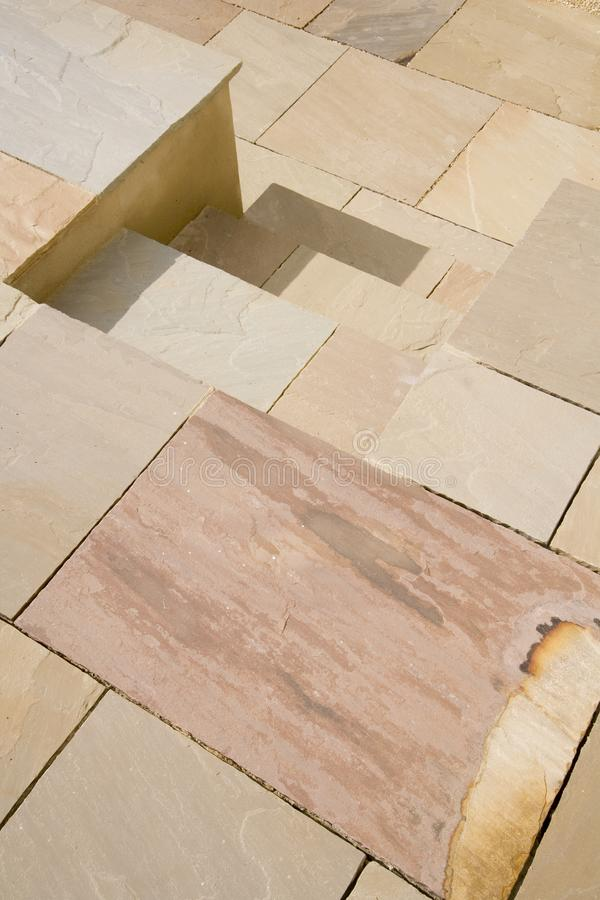 Stone slabs. Brand new stone slab pavement pattern royalty free stock images