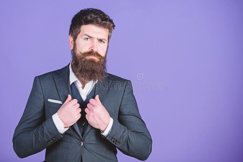 Brand new stylish suit. Male formal fashion. Stylish Mafia boss. Mafia boss. Mature hipster with beard. Businessman in. Suit. Bearded man mafia boss. brutal stock photo