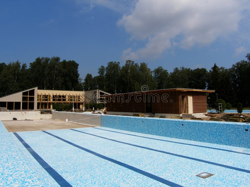 Brand new swimming pool royalty free stock images