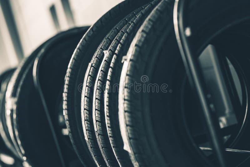 Brand New Tires Rack stock photography