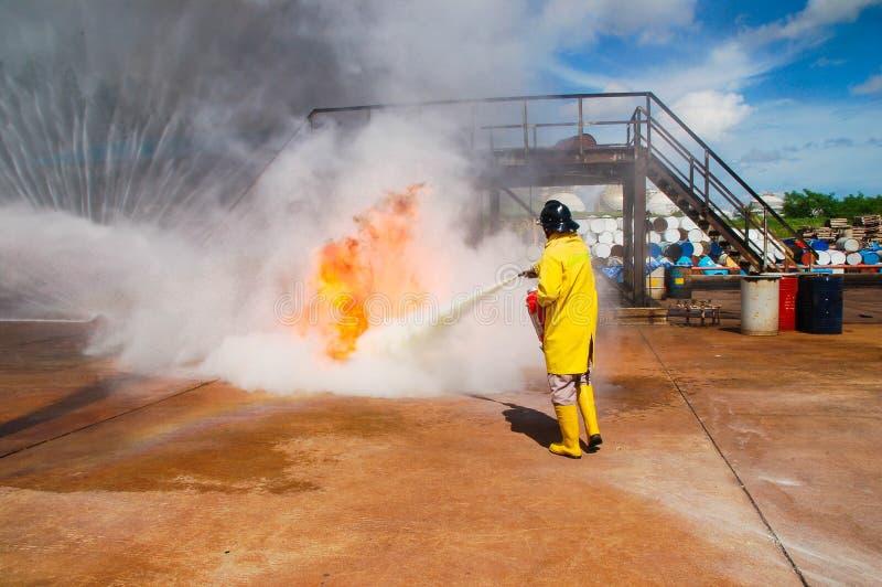Brand op het onderwijs van het Ministerie van noodsituatiesituaties stock foto