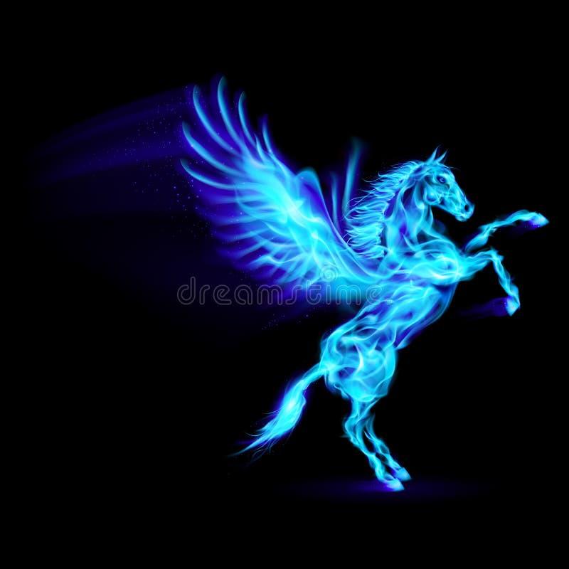 Brand Pegasus. stock illustratie