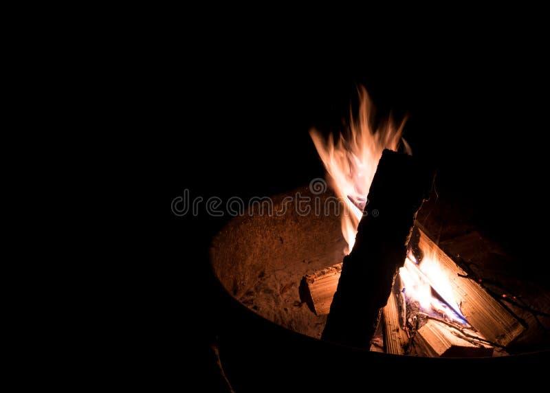 Brand Pit Flames arkivbild