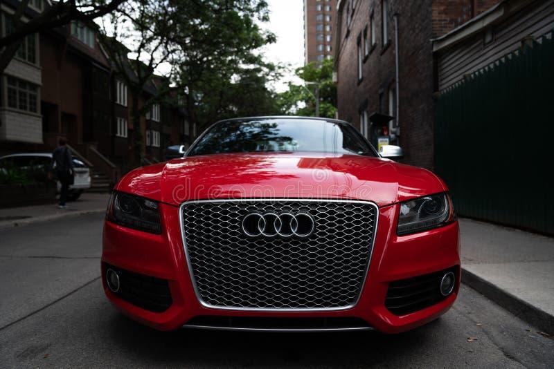 Brand Rood Audi royalty-vrije stock foto