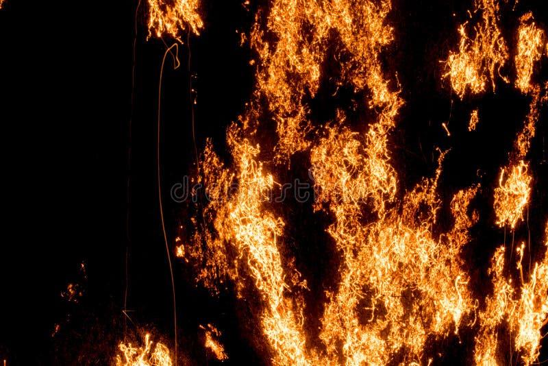 BRAND - staalwol het branden, het oxyderen, het smeulen 01 stock afbeeldingen