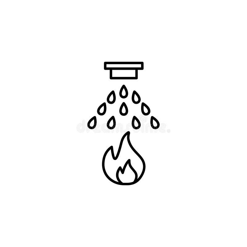 brand-stridighet systemsymbol Beståndsdel av droppande som bevattnar symbolen för mobila begrepps- och rengöringsdukapps Den tunn vektor illustrationer