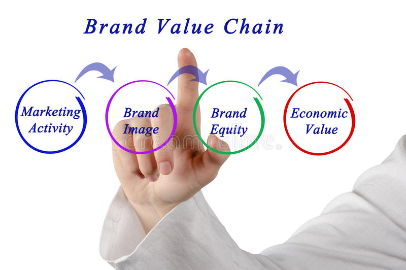 Brand Value Chain royalty free stock photo
