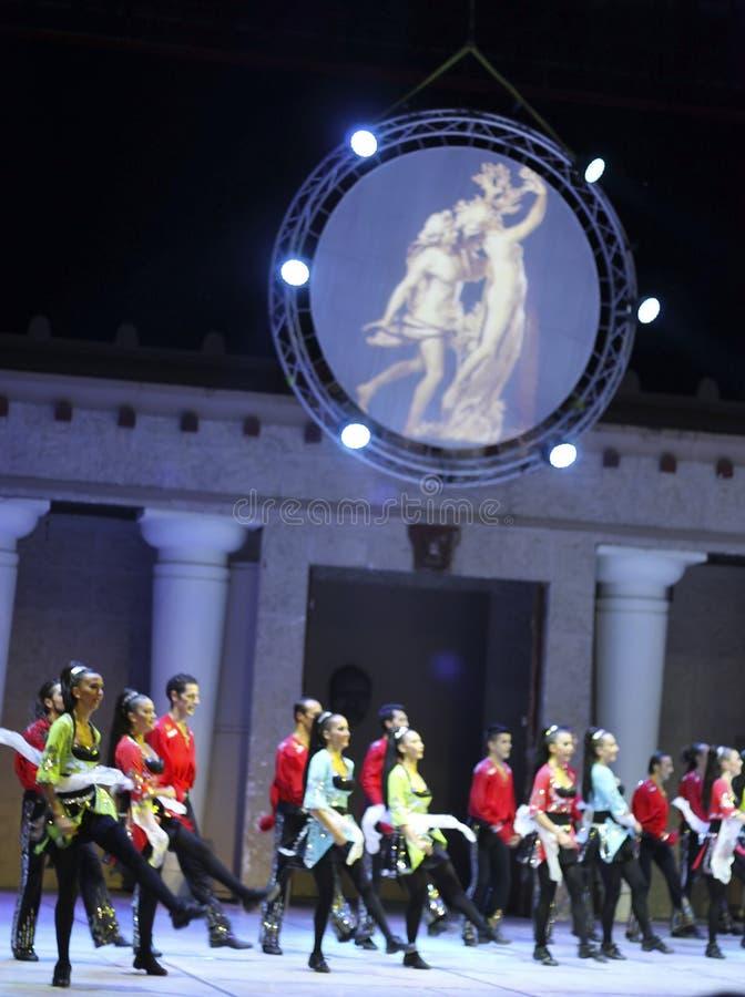 Brand van Anatolië. Prestaties in het amfitheater van Anatolië. royalty-vrije stock foto's