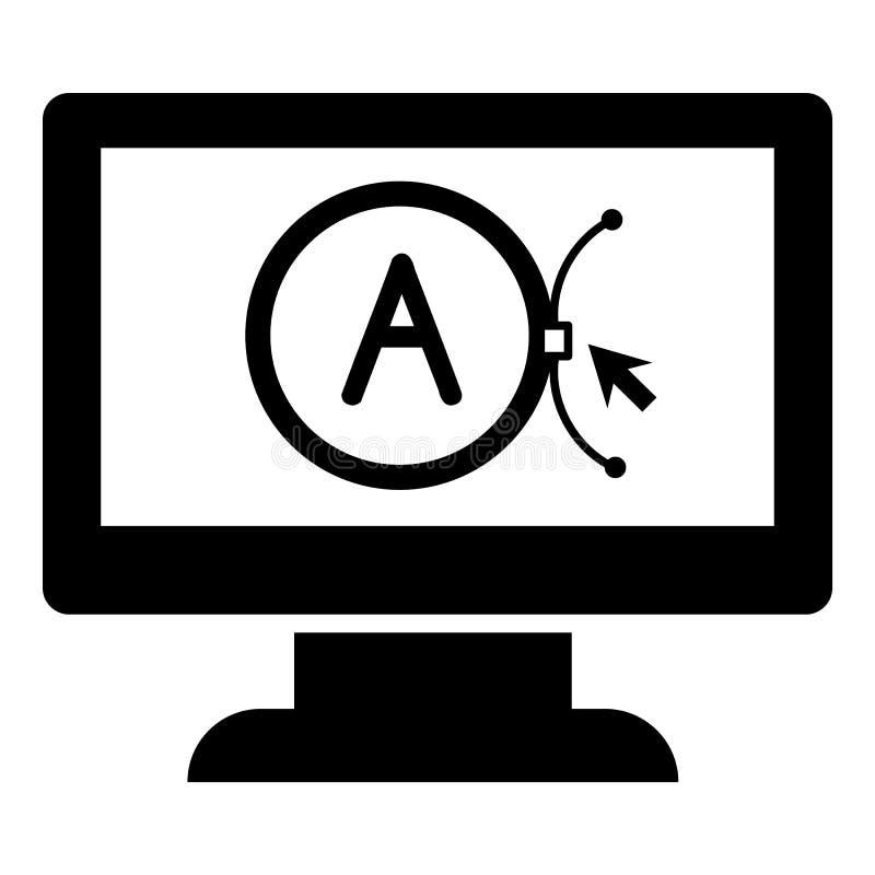 Brand vector computer design icon, simple style vector illustration