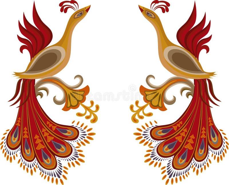 Brand-vogel royalty-vrije stock afbeelding