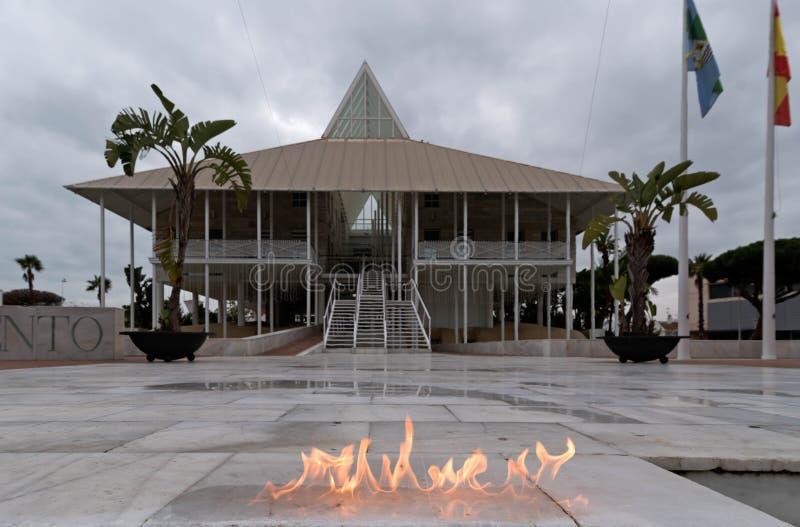 Brand in vulklei royalty-vrije stock afbeeldingen