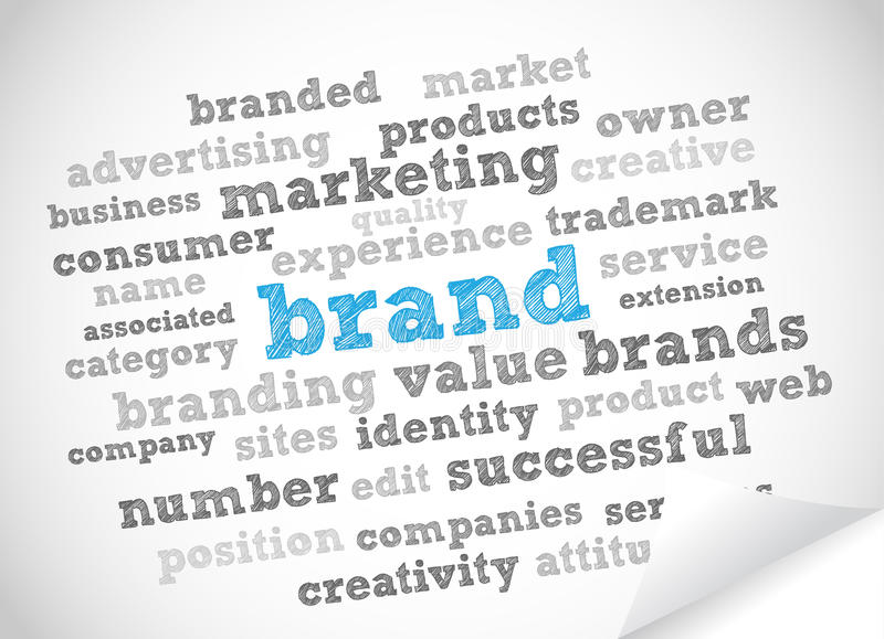 Brand Word Cloud Royalty Free Stock Image