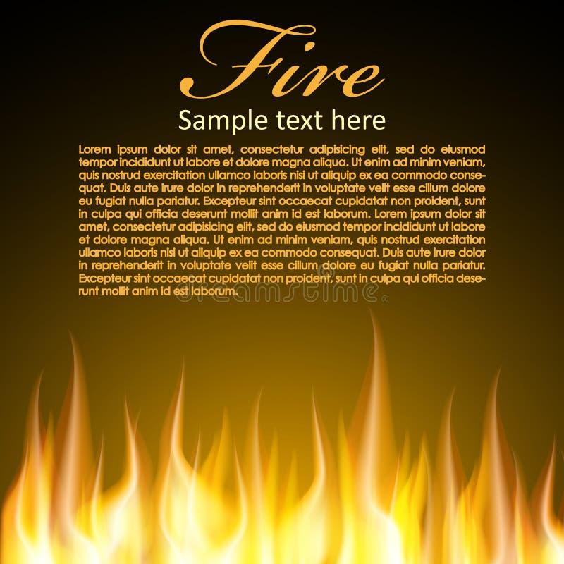 Brandachtergrond Voor Uw Ontwerp Stock Foto's