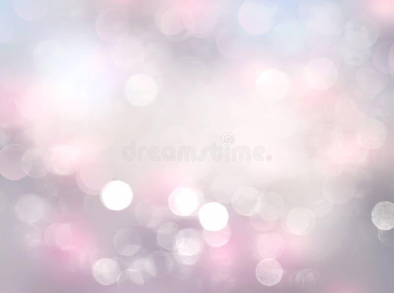 Brandamente fundo abstrato borrado rosa do bokeh ilustração stock