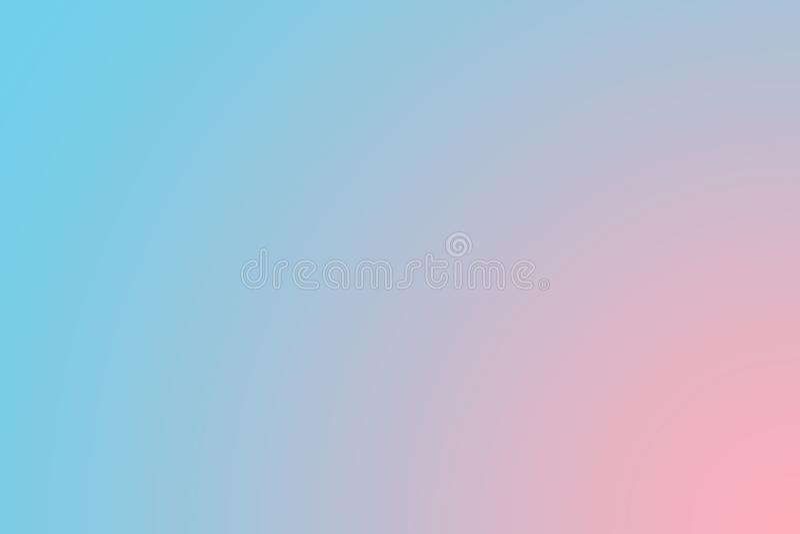 Brandamente o doce borrou o fundo azul e cor-de-rosa da cor pastel Papel de parede abstrato do desktop do inclinação ilustração do vetor