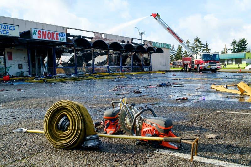 Brandbekämpningutrustning royaltyfria foton