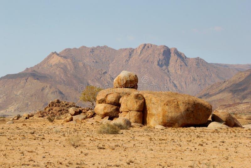 Brandberg,纳米比亚的高山 库存图片
