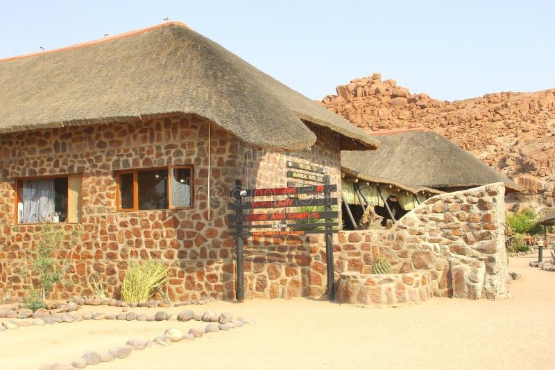 Brandberg White Lady lodge, Namibia royalty free stock photos