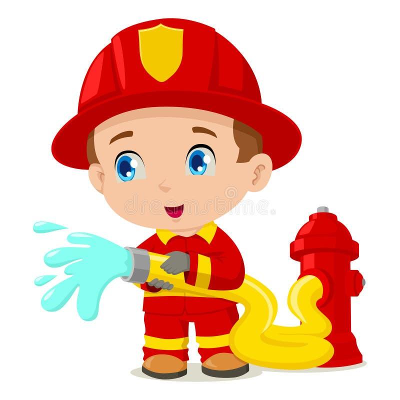Brandbestrijder royalty-vrije illustratie