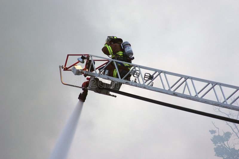 Brandbestrijder I stock afbeelding