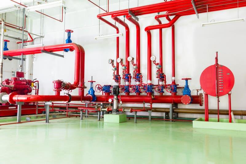 Brandbestrijdingssysteem stock afbeelding