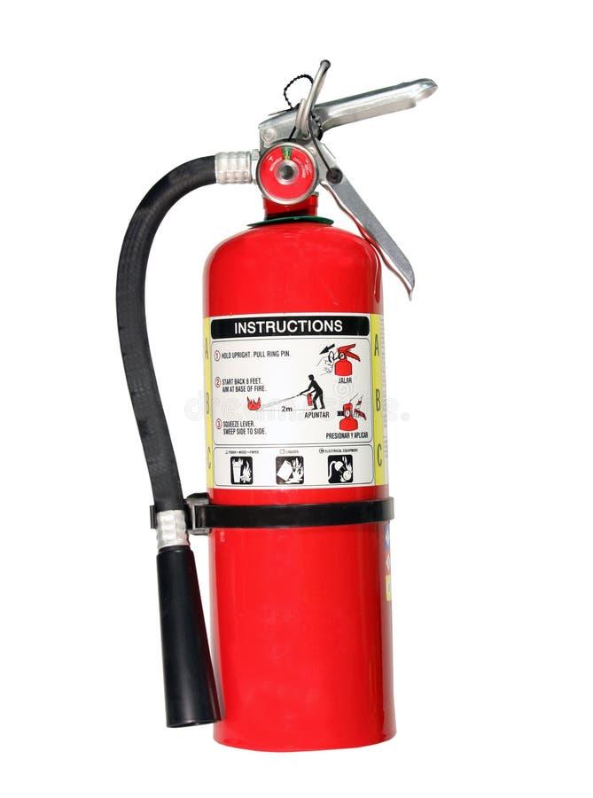 Brandblusapparaat met weg royalty-vrije stock fotografie