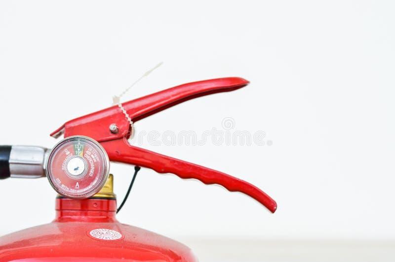 Brandblusapparaat op witte achtergronden royalty-vrije stock afbeelding