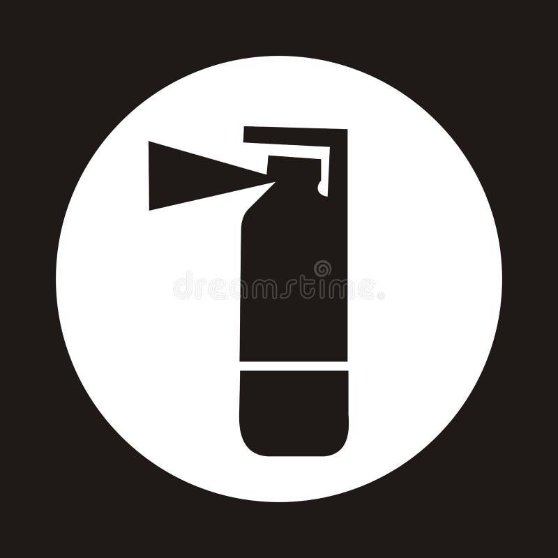 Brandblusapparaatpictogram - zwarte stock illustratie