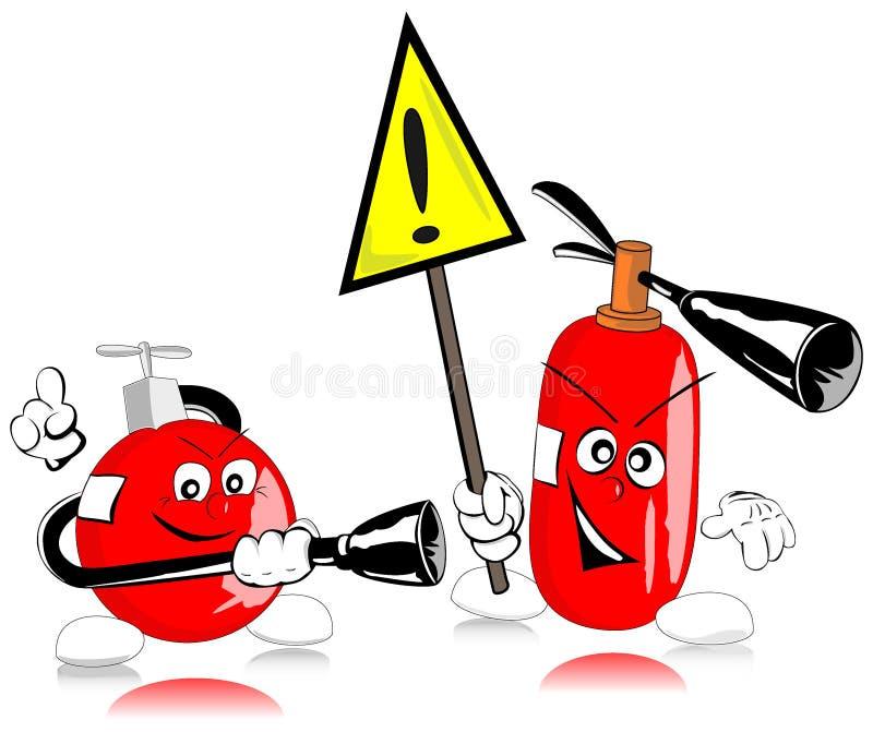 Brandblusapparaten vector illustratie