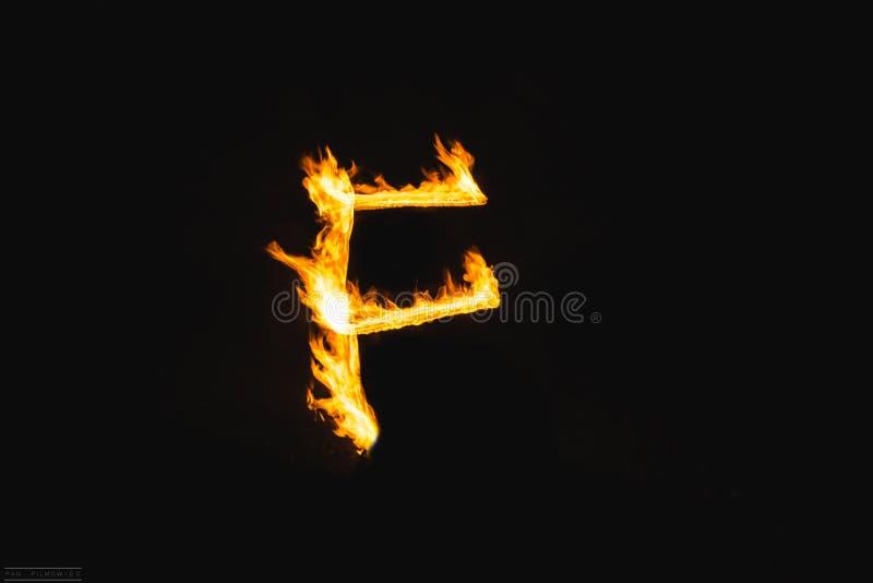 Brandbokstäver royaltyfri foto