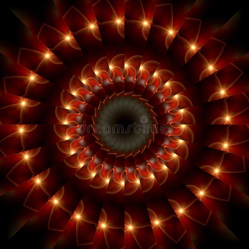 brandcirkel vektor illustrationer