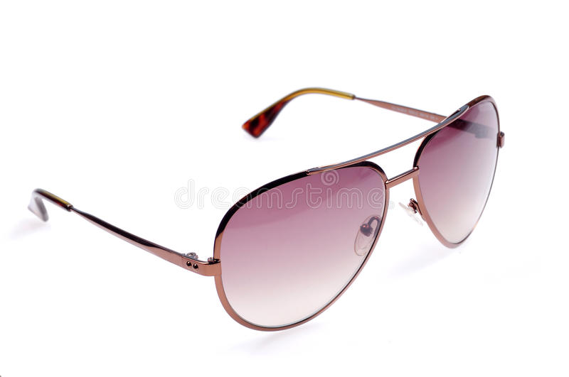 Branded aviators. Isolated over white background stock photography