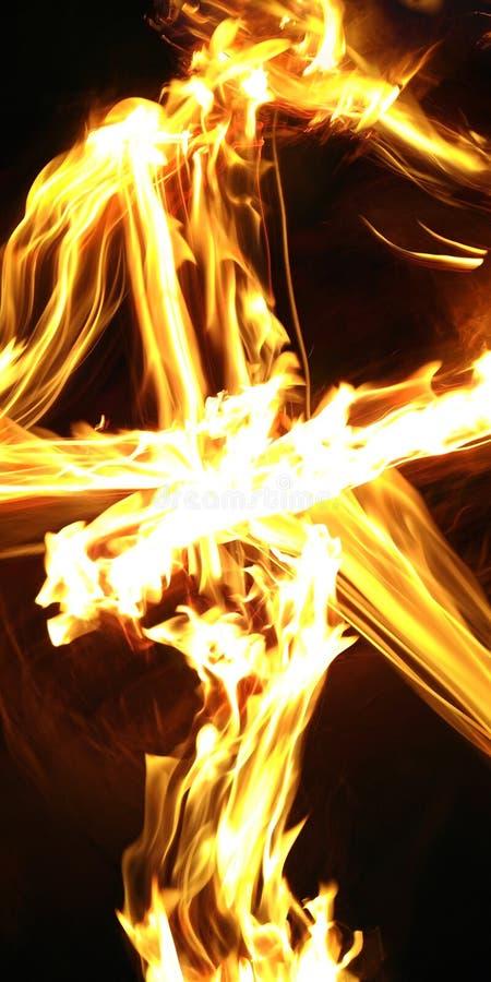 Brandeffekt arkivbild